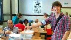 Eduardo Fernández Rubiño, el día de las elecciones (Foto: Twitter)
