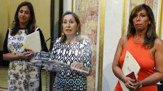 La presidenta del Congreso, Ana Pastor, en rueda de prensa en el Congreso. (Foto: EFE)