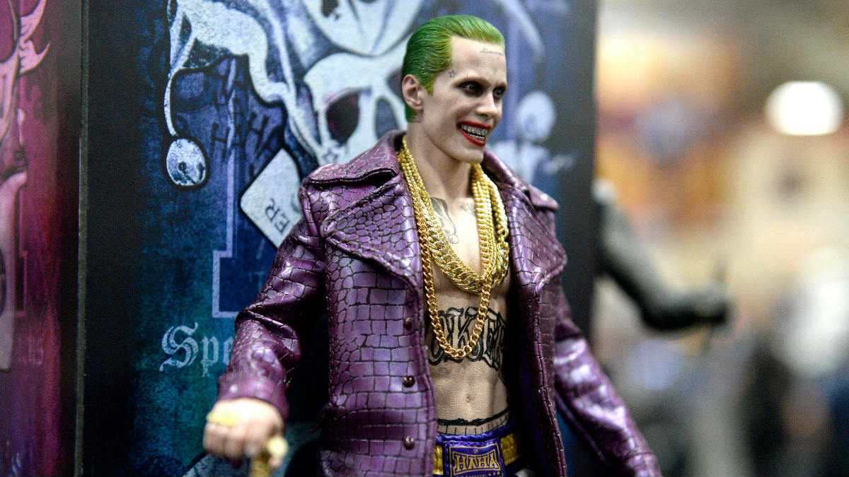 Una fiel reproducción del actor Jared Leto interpretando el papel del villano de Batman, Joker. (Foto: Getty)
