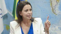 María Corina Machado lidera el movimiento político de la oposición Vente Venezuela.