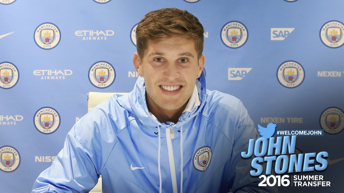 John Stones, nuevo jugador del Manchester City.
