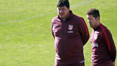 Diego Pablo Simeone y Germán Burgos
