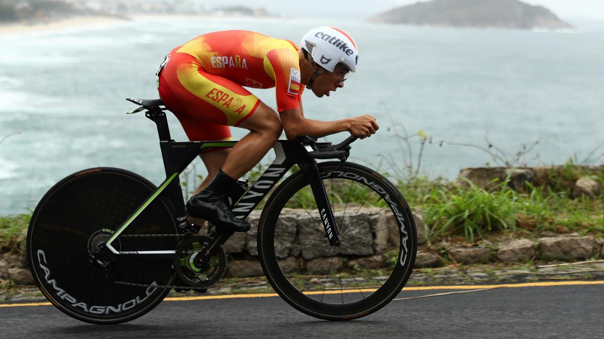 Jonathan Castroviejo, en la contrarreloj de los Juegos de Río. (Getty)