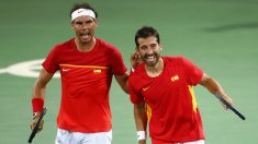 Nadal y Marc López se clasificaron las semifinales. (Getty)