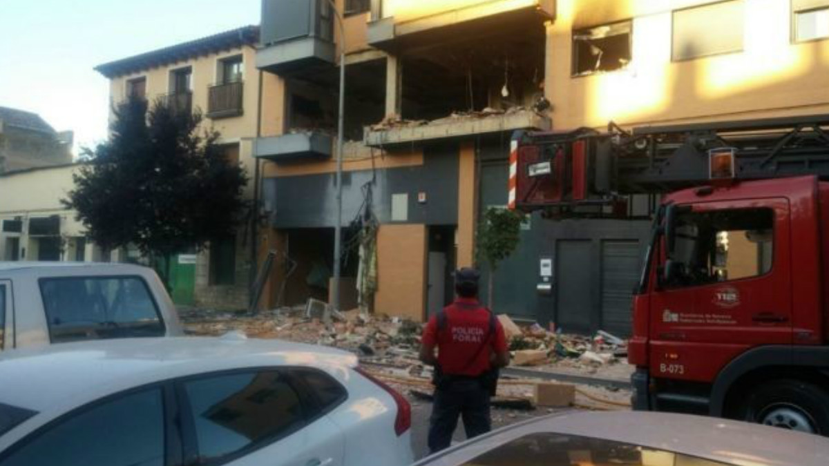 Así ha quedado el inmueble después de la explosión en la que, se cree, han perdido la vida tres personas. (Foto: Policía Navarra)