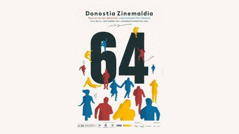 Este es el cartel de la 64 edición del Festival Internacional de Cine de San Sebastián, también conocido como Zinemaldia. (Foto: Festival de SS)
