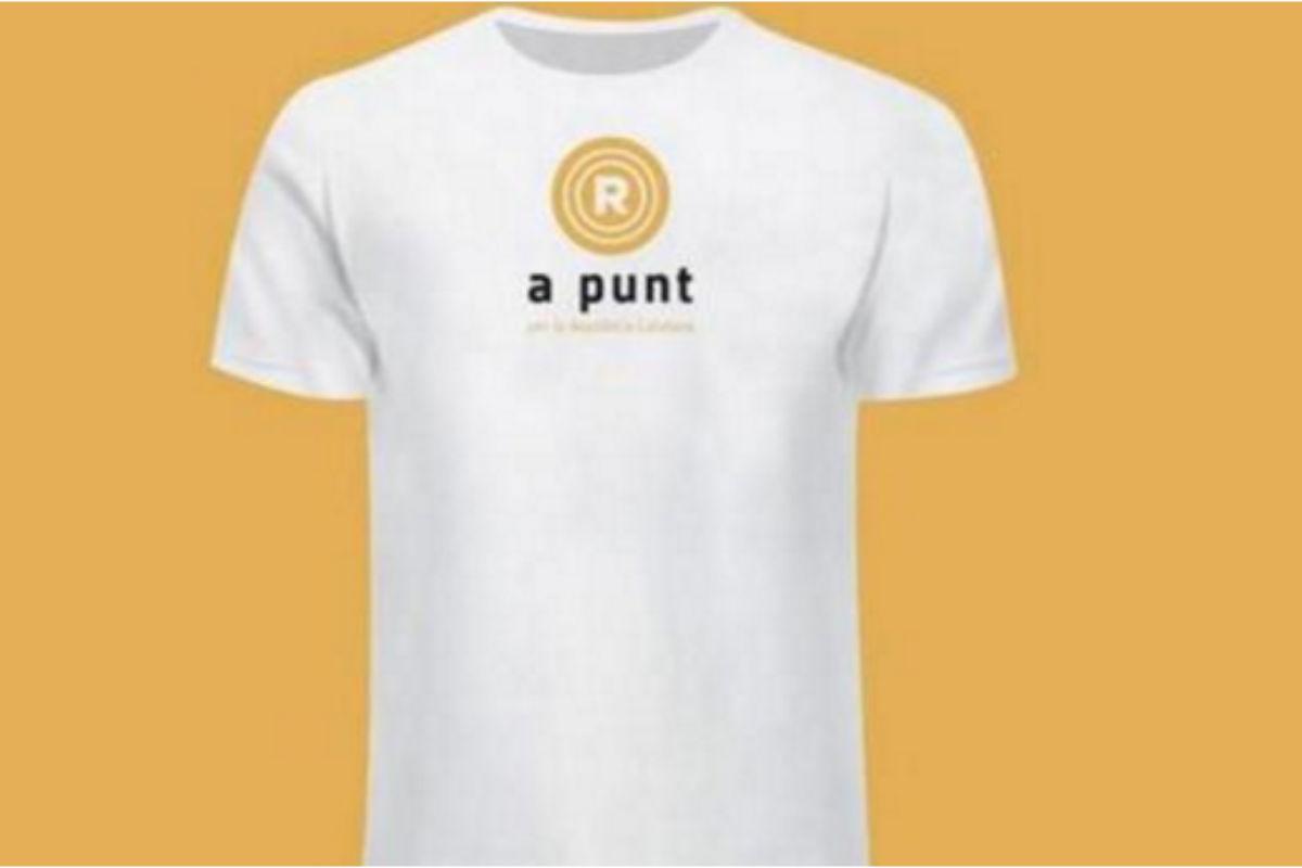 Camiseta oficial de la Diada que comercializan ANC y Ómnium.