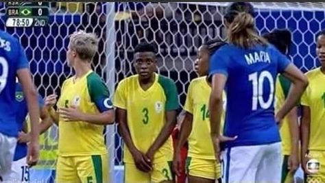 La imagen de la jugadora de Sudáfrica que ha dado la vuelta al mundo.