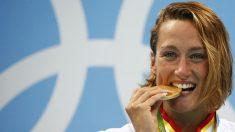 Histórica Mireia Belmonte con el oro olímpico (Reuters)