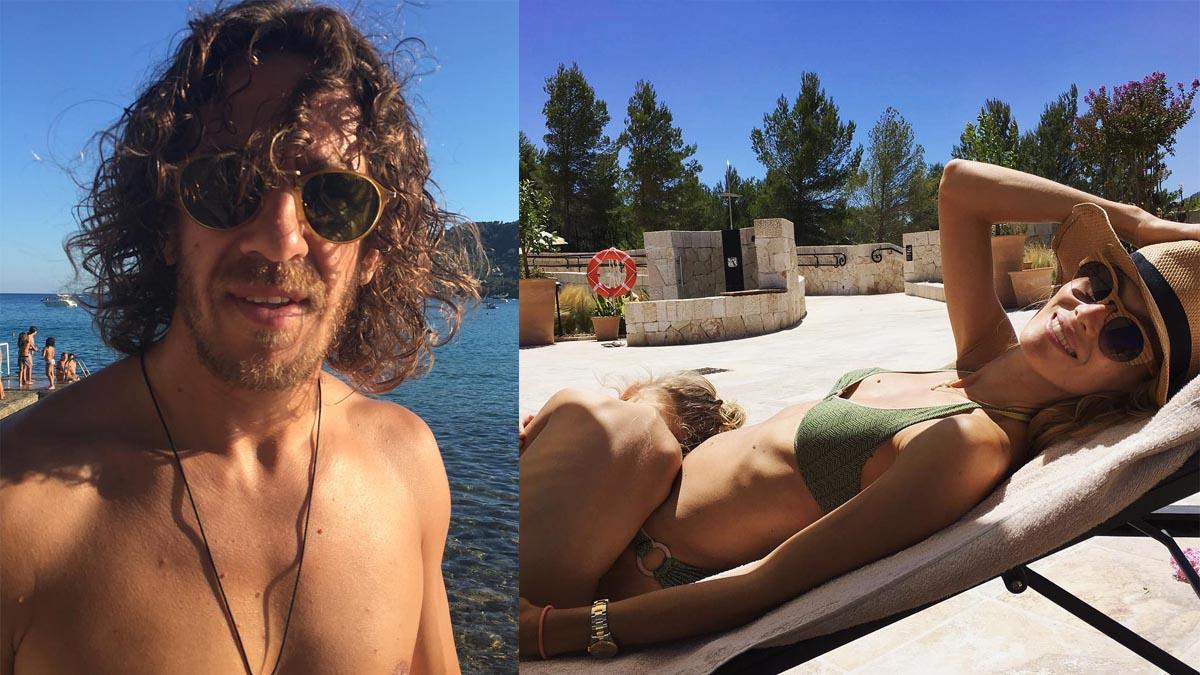 Puyol y Vanesa Lorenzo, vacaciones en familia
