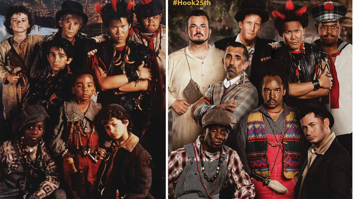 Los actores que dieron vida a los niños perdidos del País de Nunca Jamás, 25 años después del rodaje de la película. (Foto: 22Vision)