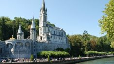 La Basílica del Santuario de Lourdes, en Francia.