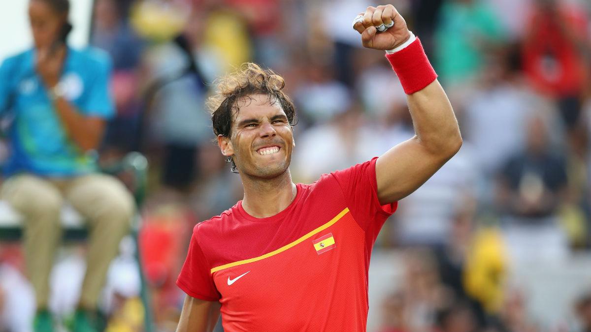 Nadal vence al anfitrión y peleará por las medallas en individuales. (Getty)