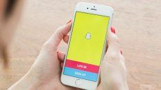Aplicación móvil de Snapchat.