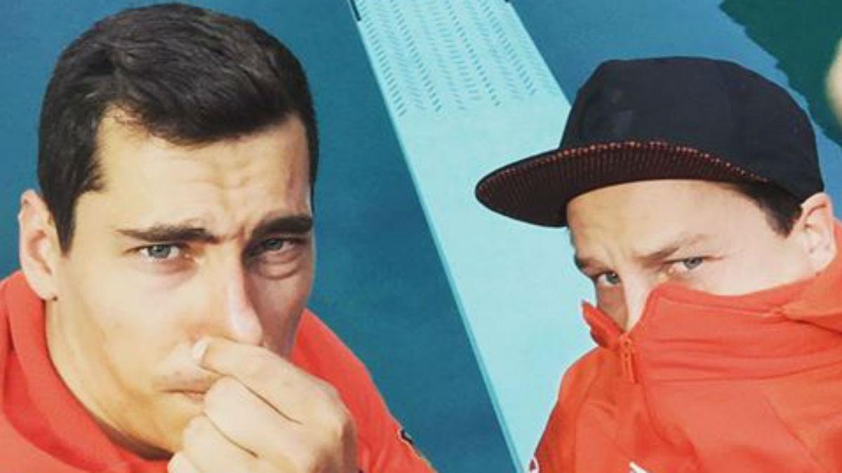 Stephan Feck se tapa la nariz en la piscina de salto. (Facebook)