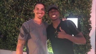 Ibrahimovic y Pogba están formando una gran relación. (Twitter)