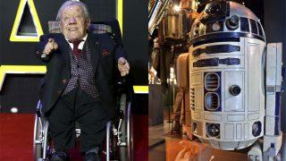 Kenny Baker fue R2D2 en la Guerra de las Galaxias (Fotos: Getty)