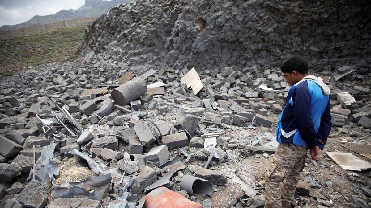 Bombardeos en Yemen. (Reuters)