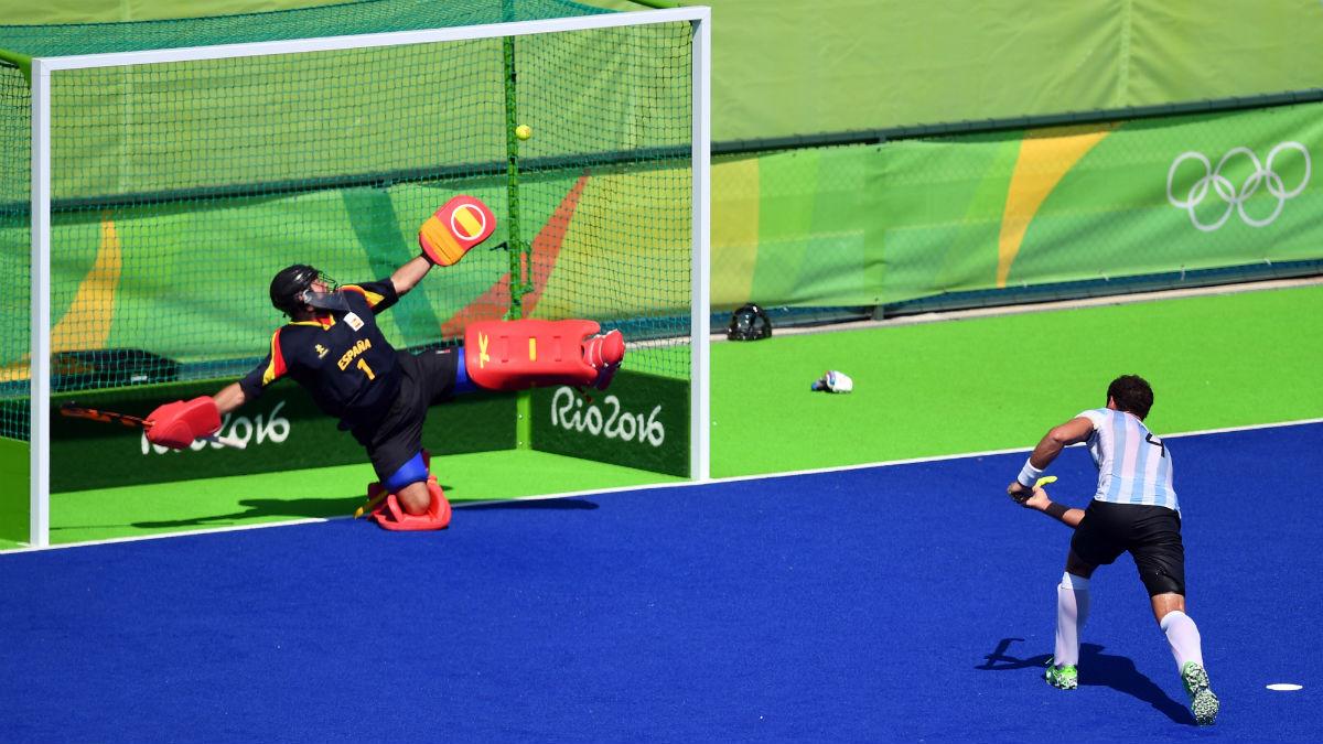 El gol definitivo que dejó al hockey español sin poder entrar en cuartos. (AFP)