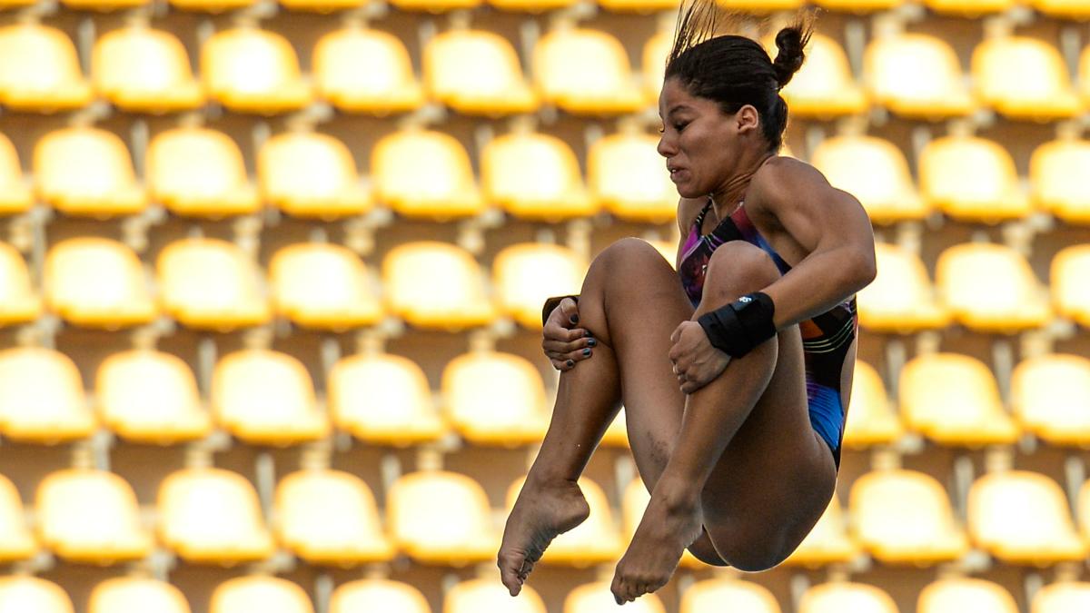 Ingrid de Oliveira, en una competición previa a los Juegos Olímpicos. (Getty)