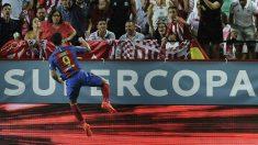 Luis Suárez celebra el 0-1 a favor del Barça. (AFP)