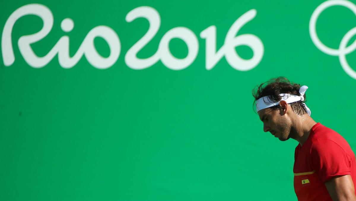 Nadal, en el partido por el bronce ante Nishikori. (Reuters)