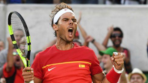 Rafa Nadal levantó pasiones en el público en Río de Janeiro. (AFP)