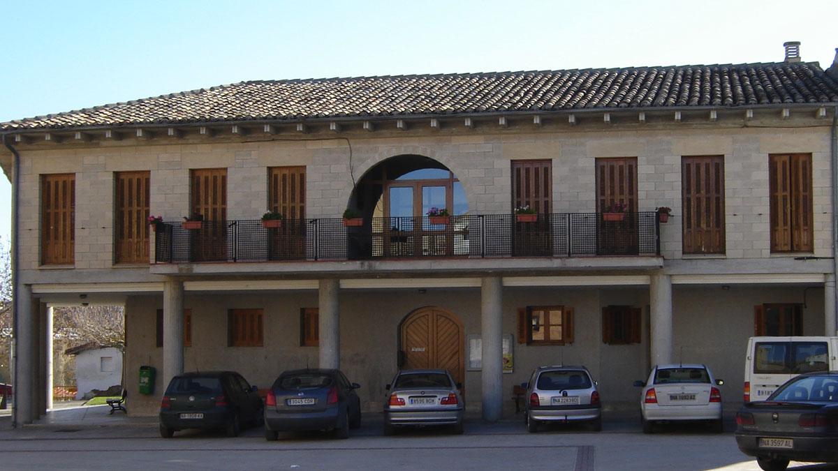 Fachada del Ayuntamiento de Berbinzana. (Navarchivo.com)