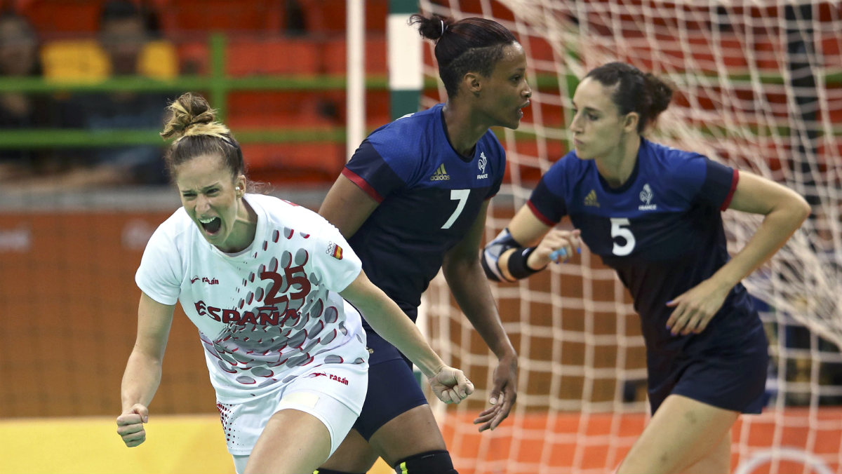 Nerea Pena celebra un gol ante Francia. (Reuters)
