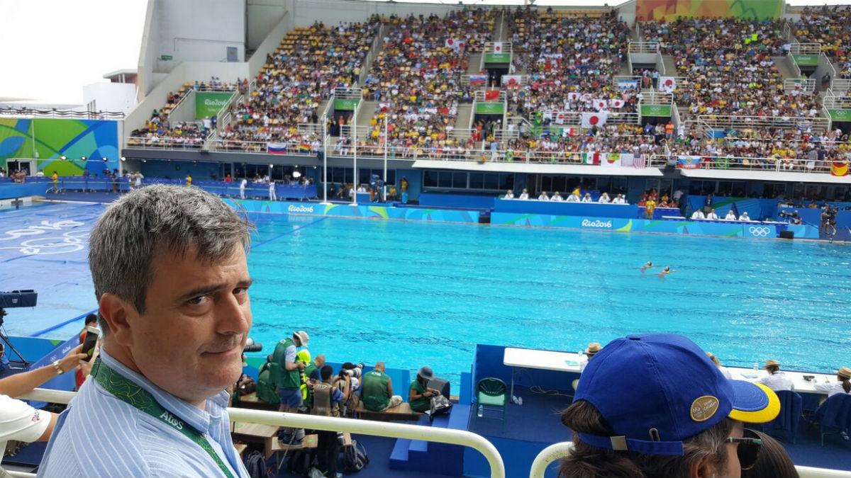 A Miguel Cardenal le encanta hacerse notar cuando acude a un evento olímpico.