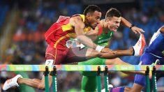 Orlando Ortega supera una valla en los Juegos de Río. (Getty)
