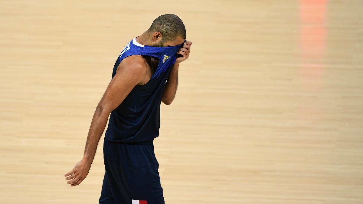 Tony Parker, totalmente frustrado contra España. (AFP)