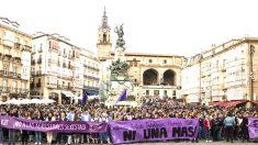 Manifestación contra la violencia machista (Foto: Efe).