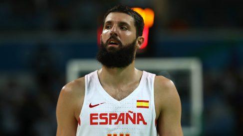 Nikola Mirotic, en un partido con España. (Getty)