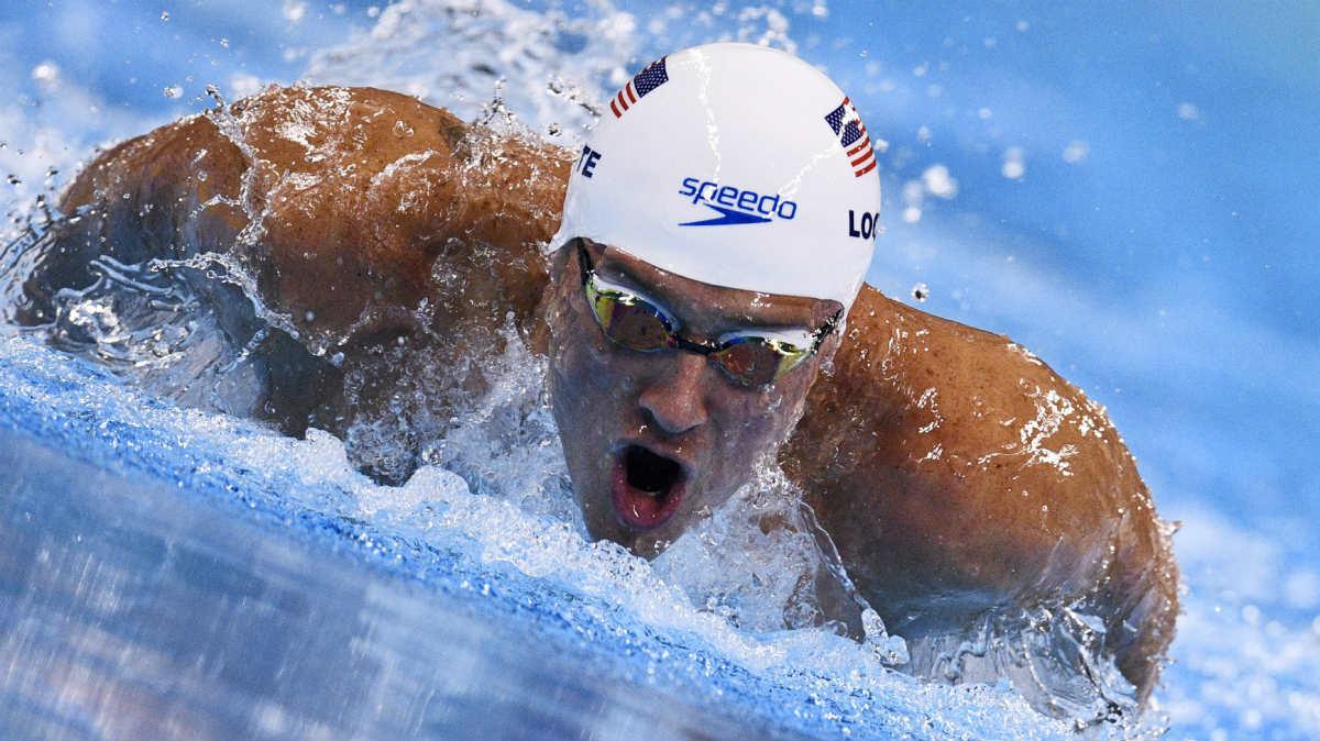 Ryan Lochte, en los Juegos de Río. (AFP)