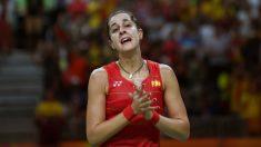 Carolina Marín, durante un partido.