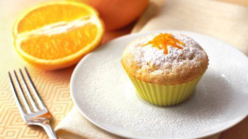 Muffins de naranja y vainilla