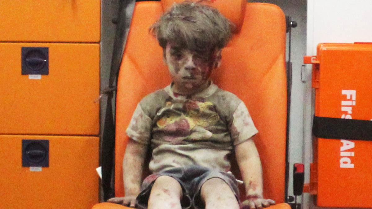 Omran Daqneesh, víctima de la guerra de Siria (Reuters)