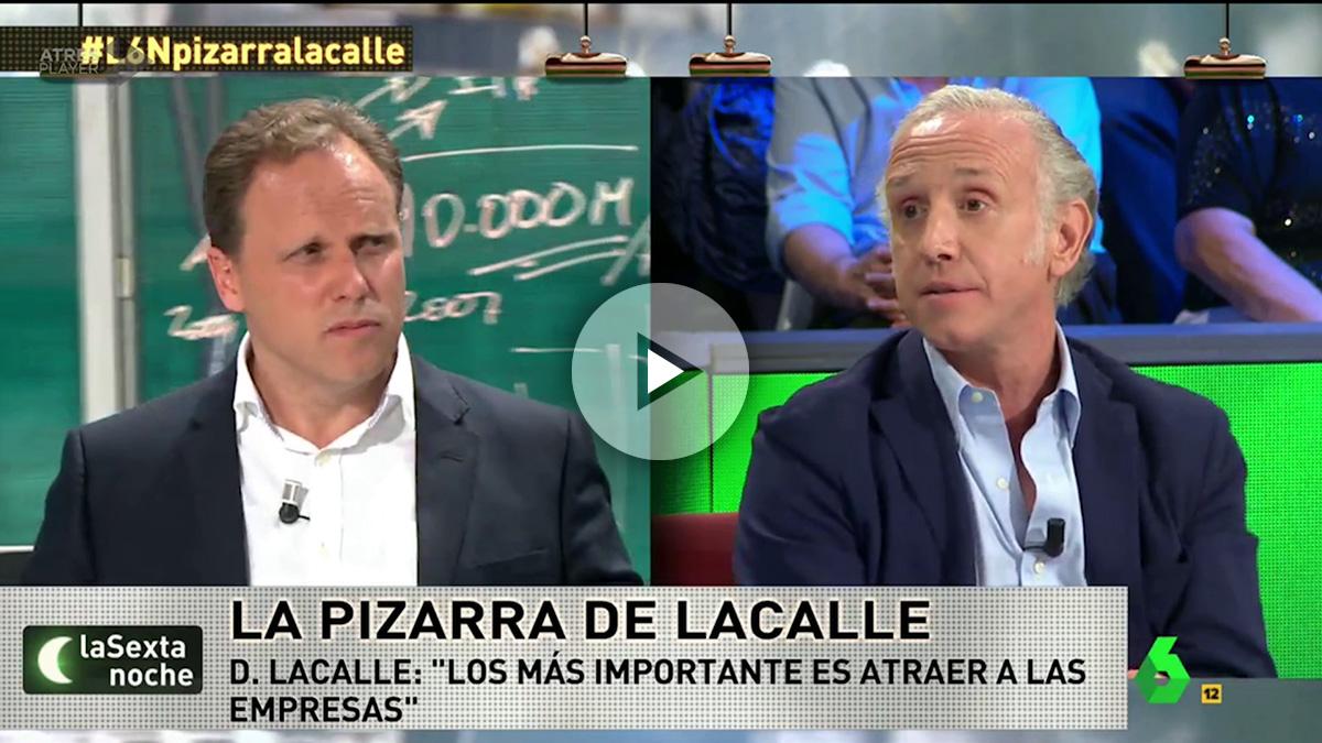 Eduardo Inda y el economista Daniel Lacalle, en La Sexta Noche.