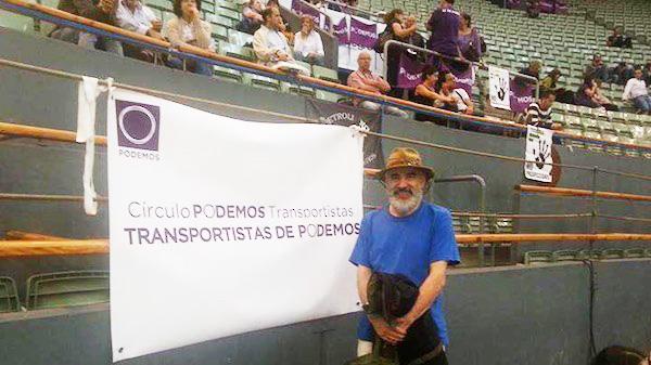 Antonio Llanos Alonso, fundador del Círculo de Transportistas de Podemos.