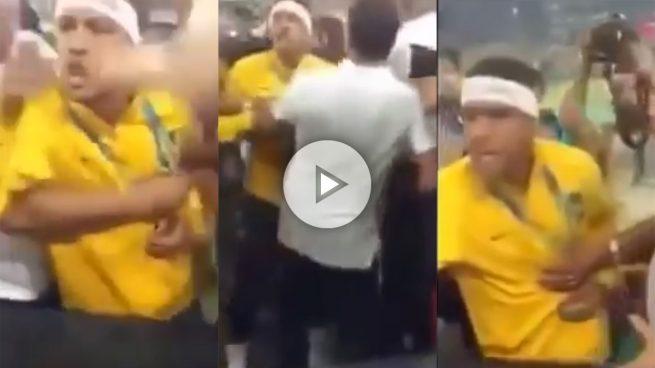 El Neymar más macarra: casi llega a las manos con un aficionado tras ganar el oro