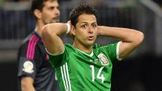 Chicharito Hernández, en un partido con México. (AFP)