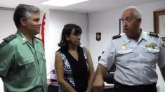 El teniente coronel Castro y el comisario Alfonso Sánchez, en la Jefatura de Policía de Ceuta.