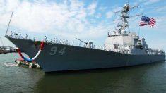 El buque de guerra estadounidense USS Nitze