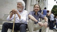 José Manuel Beiras, portavoz de AGE y el líder de Podemos, Pablo Iglesias (Foto: Efe).