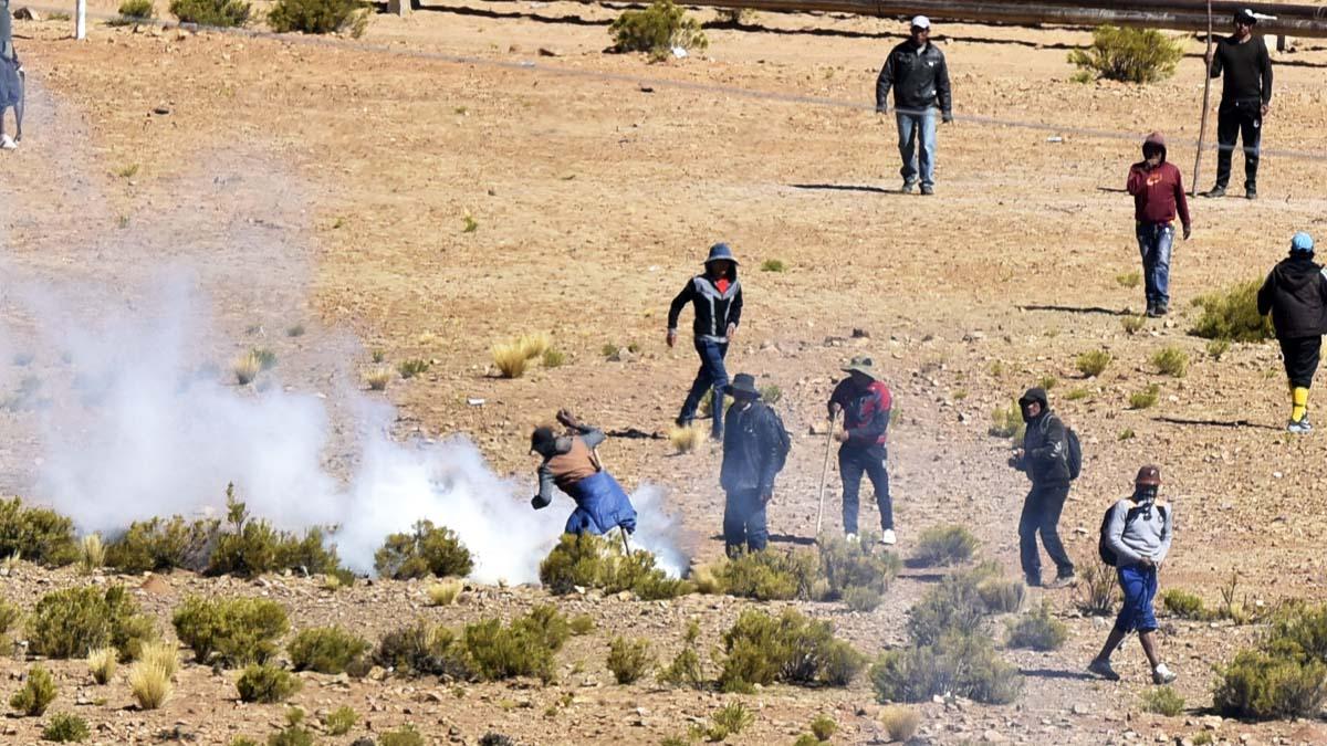 Mineros bolvianos durante las protestas (Foto: AFP)