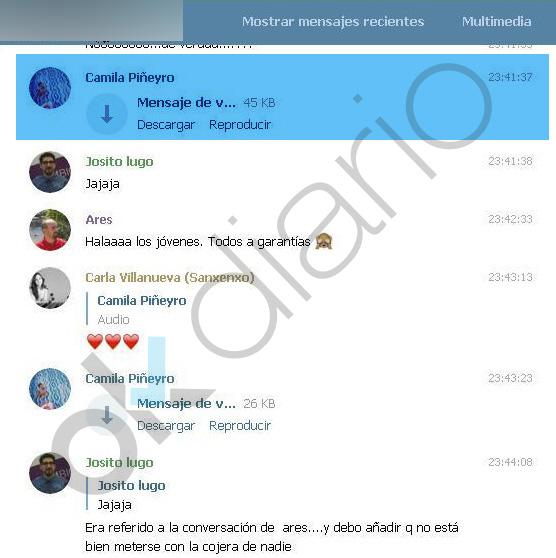 Chat interno de Agora Podemos.