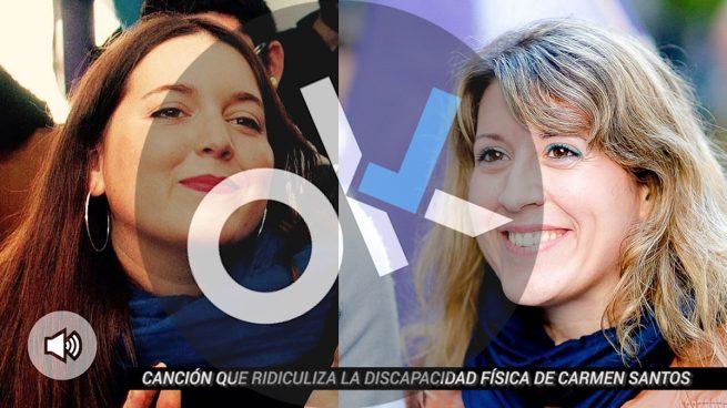 Ángela Rodríguez, diputada de Podemos y Carmen Santos, secretaria general de Podemos Galicia.