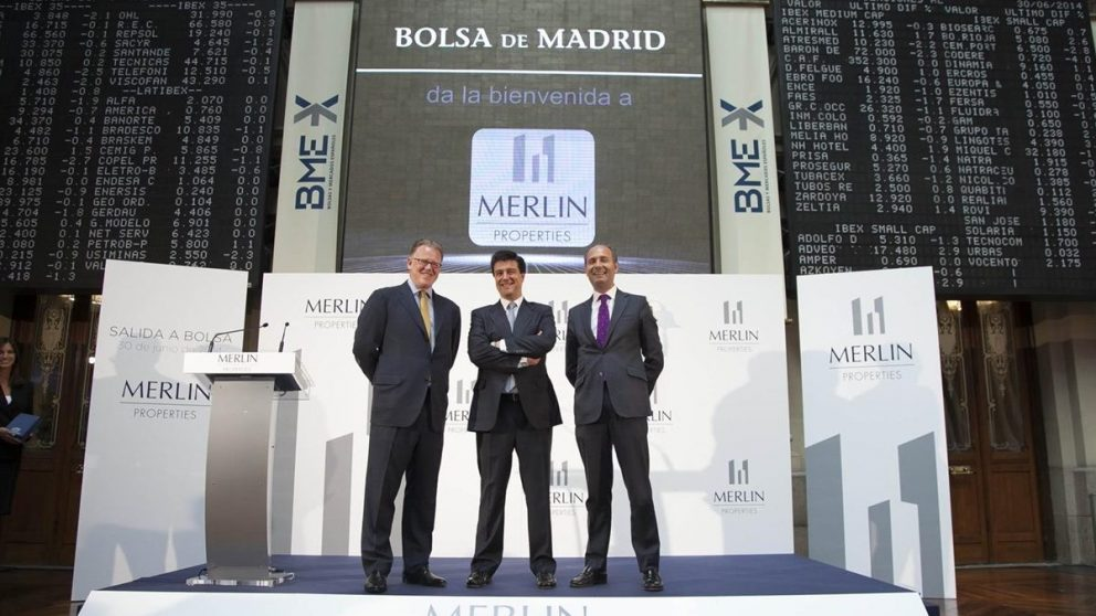 La directiva de Merlin Properties el día de la salida a Bolsa.