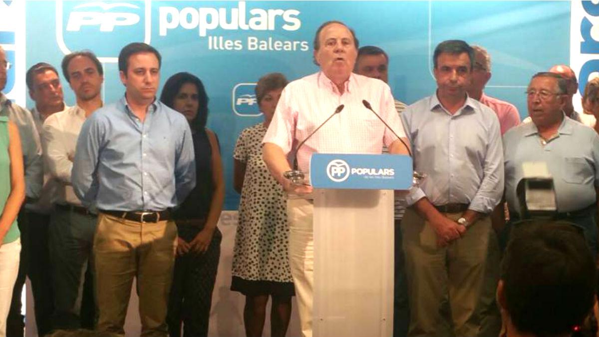 José María Rodríguez en un acto del PP.